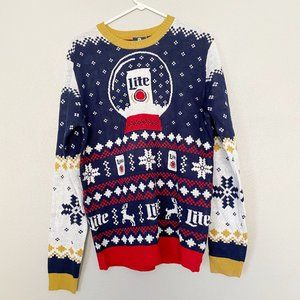 MILLER LITE Limited Snow Globe Christmas Sweater
